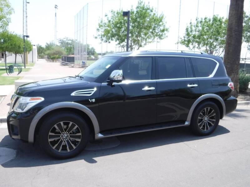 2017 Nissan Armada for sale at J & E Auto Sales in Phoenix AZ