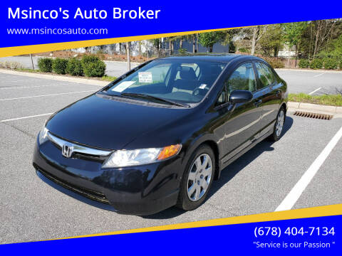 2008 Honda Civic for sale at Msinco's Auto Broker in Snellville GA