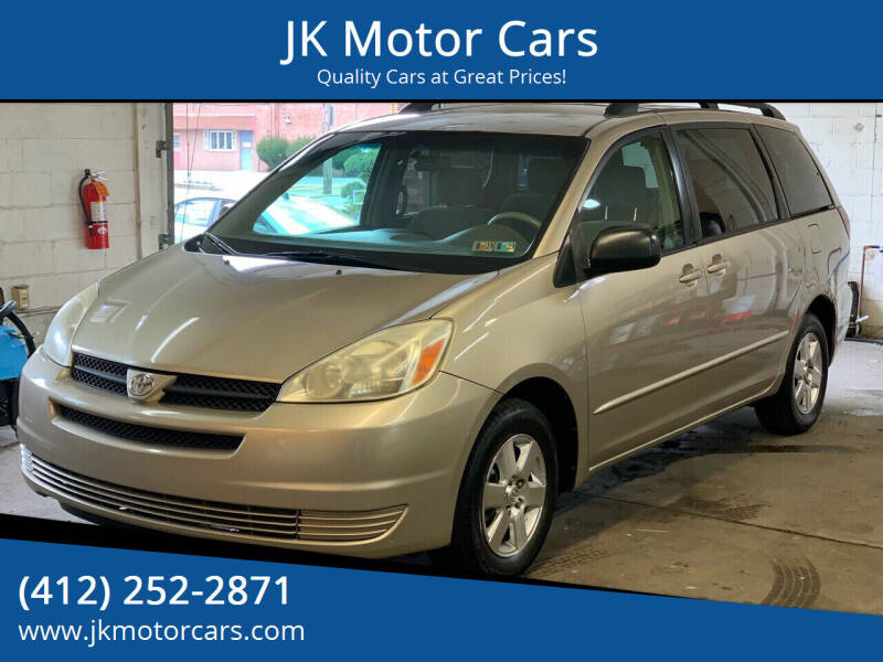 2005 Toyota Sienna for sale at JK Motor Cars in Pittsburgh PA