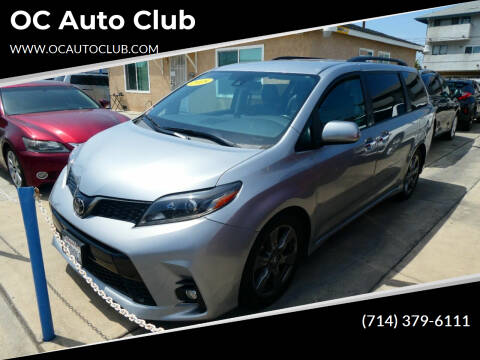 2018 Toyota Sienna for sale at OC Auto Club in Midway City CA