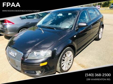 2006 Audi A3 for sale at FPAA in Fredericksburg VA