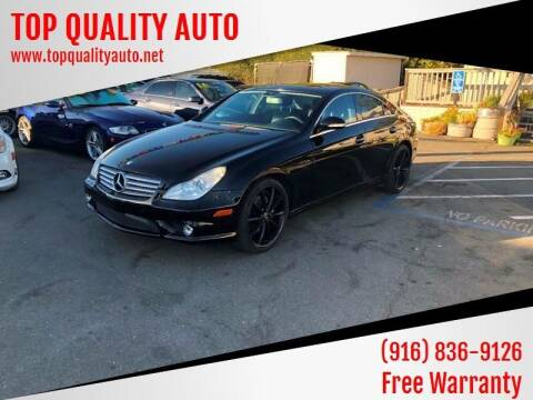 2008 Mercedes-Benz CLS for sale at TOP QUALITY AUTO in Rancho Cordova CA