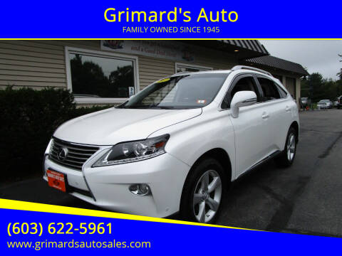 2013 Lexus RX 350 for sale at Grimard's Auto in Hooksett NH