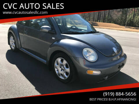 2002 Volkswagen New Beetle for sale at CVC AUTO SALES in Durham NC