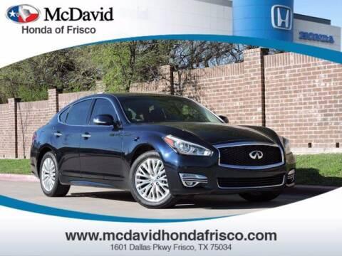 2015 Infiniti Q70 for sale at DAVID McDAVID HONDA OF IRVING in Irving TX
