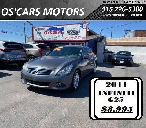2011 Infiniti G25 Sedan for sale at Os'Cars Motors in El Paso TX