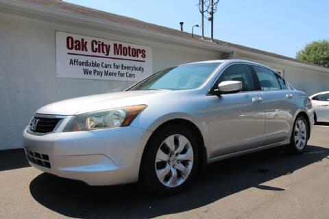 2008 Honda Accord for sale at Oak City Motors in Garner NC