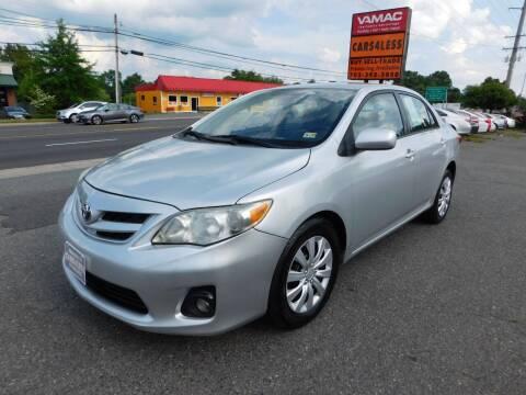 2012 Toyota Corolla for sale at Cars 4 Less in Manassas VA