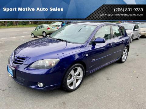 2005 Mazda MAZDA3 for sale at Sport Motive Auto Sales in Seattle WA