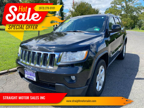 2012 Jeep Grand Cherokee for sale at STRAIGHT MOTOR SALES INC in Paterson NJ