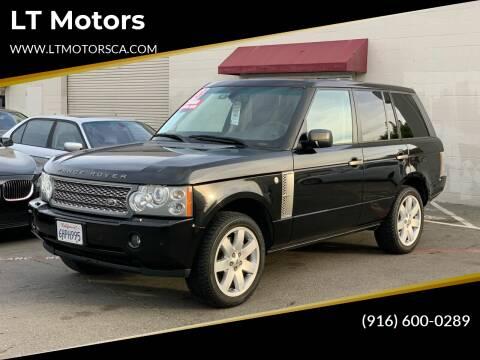 2008 Land Rover Range Rover for sale at LT Motors in Rancho Cordova CA