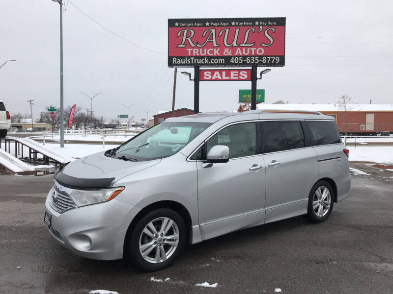 2011 Nissan Quest for sale at RAUL'S TRUCK & AUTO SALES, INC in Oklahoma City OK