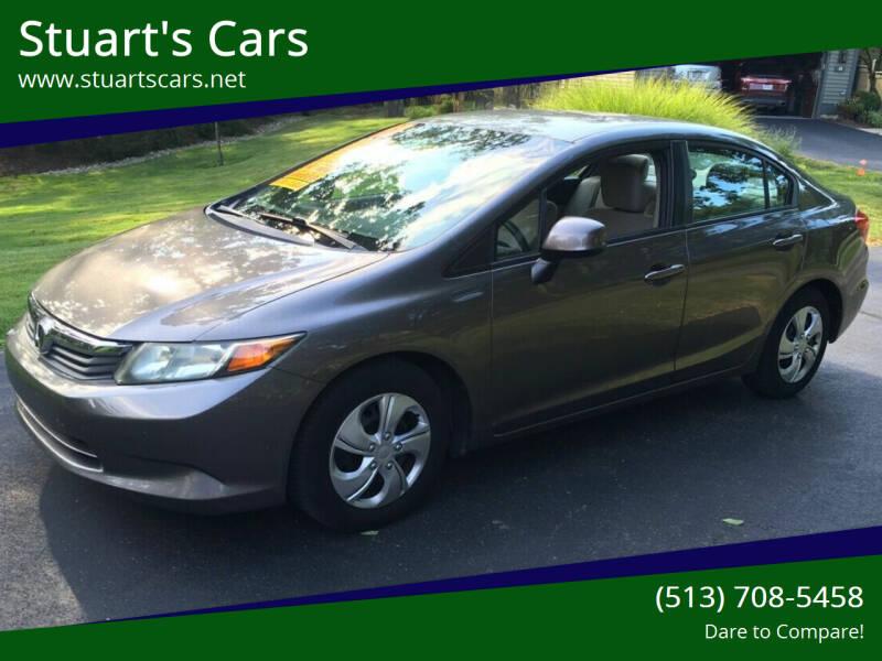 2012 Honda Civic for sale at Stuart's Cars in Cincinnati OH