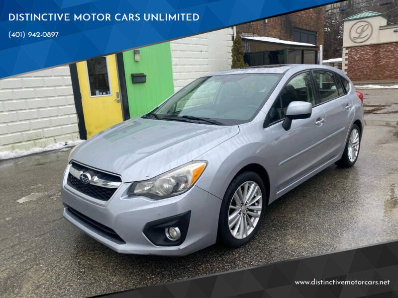 2012 Subaru Impreza for sale at DISTINCTIVE MOTOR CARS UNLIMITED in Johnston RI