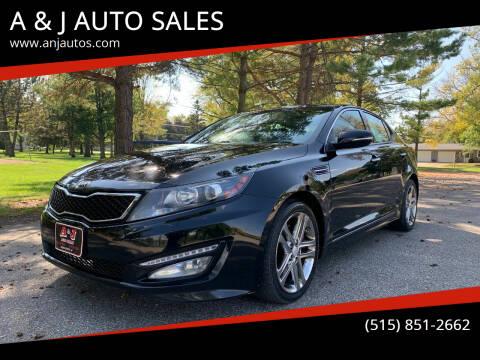 2013 Kia Optima for sale at A & J AUTO SALES in Eagle Grove IA