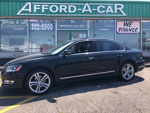 2012 Volkswagen Passat for sale at Afford-A-Car in Dayton/Newcarlisle/Springfield OH