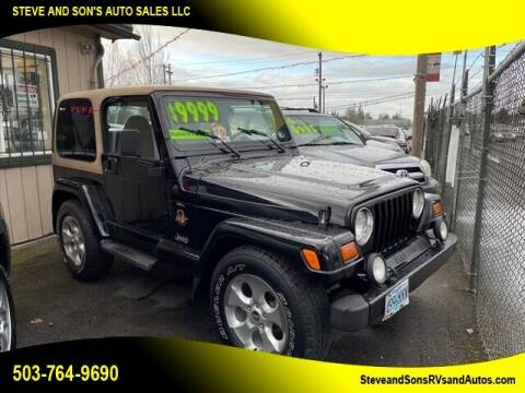1997 Jeep Wrangler for sale at Steve & Sons Auto Sales in Happy Valley OR
