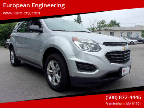 2016 Chevrolet Equinox for sale at European Engineering in Framingham MA