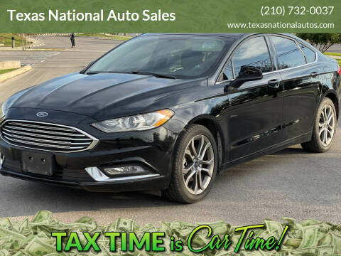 2017 Ford Fusion for sale at Texas National Auto Sales in San Antonio TX