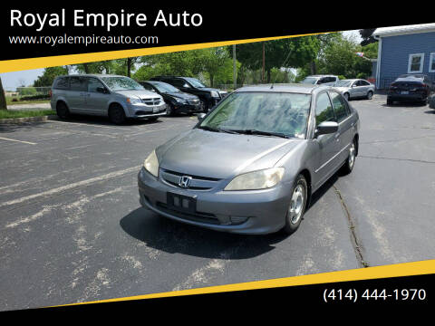 2005 Honda Civic for sale at Royal Empire Auto in Milwaukee WI