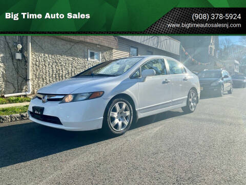 2008 Honda Civic for sale at Big Time Auto Sales in Vauxhall NJ