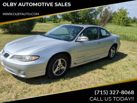 2002 Pontiac Grand Prix for sale at OLBY AUTOMOTIVE SALES in Frederic WI