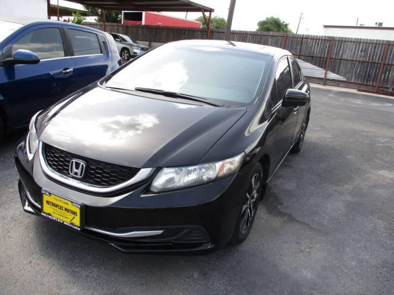 2015 Honda Civic for sale at Metroplex Motors Inc. in Houston TX