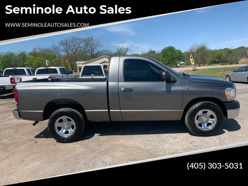 2006 Dodge Ram Pickup 1500 for sale at Seminole Auto Sales in Seminole OK