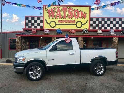 2008 Dodge Ram Pickup 1500 for sale at Watson Motors in Poteau OK