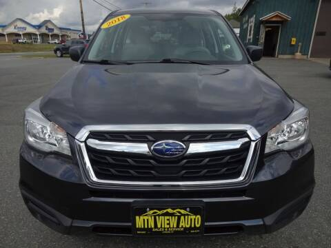2018 Subaru Forester for sale at MOUNTAIN VIEW AUTO in Lyndonville VT