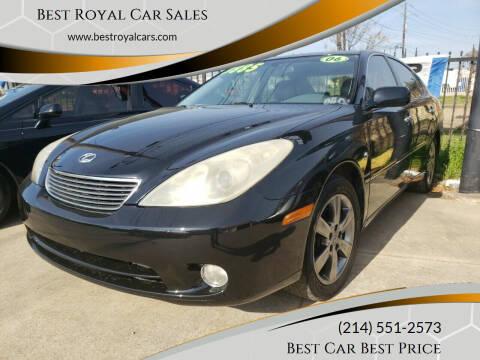 2006 Lexus ES 330 for sale at Best Royal Car Sales in Dallas TX