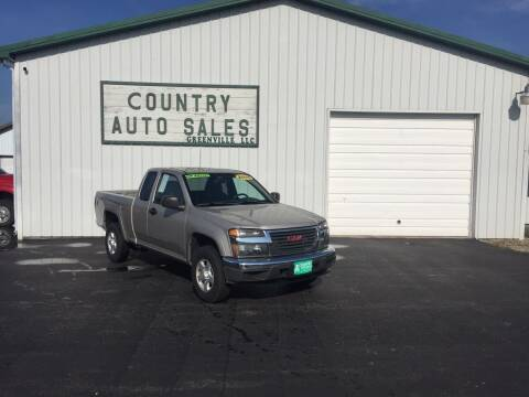 2005 GMC Canyon for sale at COUNTRY AUTO SALES LLC in Greenville OH