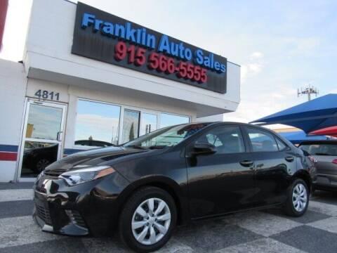 2016 Toyota Corolla for sale at Franklin Auto Sales in El Paso TX