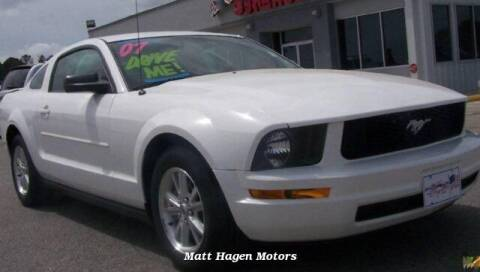 2007 Ford Mustang for sale at Matt Hagen Motors in Newport NC