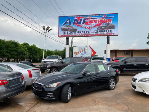 2017 Infiniti Q50 for sale at ANF AUTO FINANCE in Houston TX