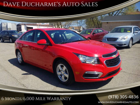 2016 Chevrolet Cruze Limited for sale at Dave Ducharme's Auto Sales in Lowell MA