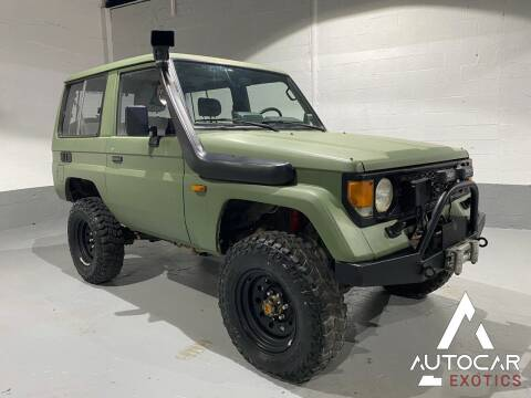 1989 Toyota Land Cruiser for sale at AutoCar Exotics in Medley FL