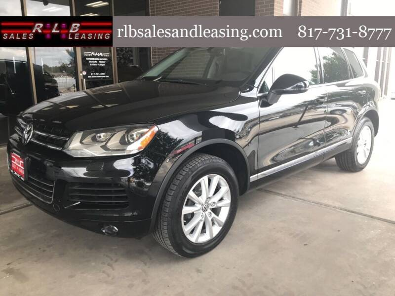 2013 Volkswagen Touareg for sale at RLB Sales and Leasing in Fort Worth TX