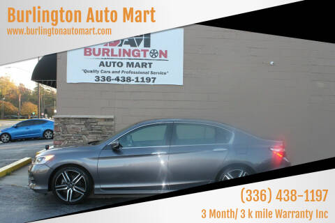 2017 Honda Accord for sale at Burlington Auto Mart in Burlington NC