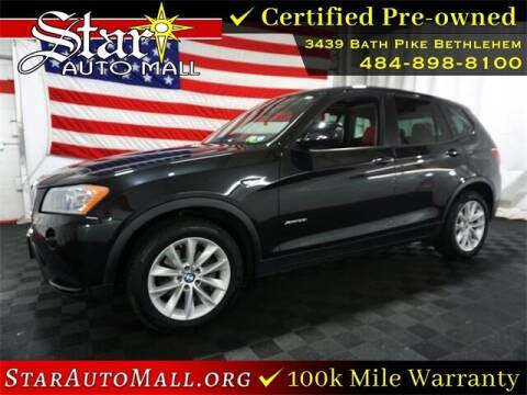 2013 BMW X3 for sale at STAR AUTO MALL 512 in Bethlehem PA