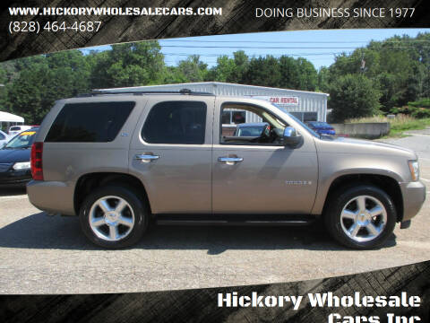 2007 Chevrolet Tahoe for sale at Hickory Wholesale Cars Inc in Newton NC