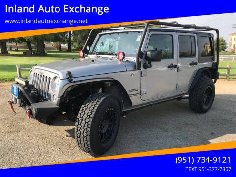 2016 Jeep Wrangler Unlimited for sale at Inland Auto Exchange in Norco CA