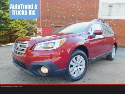 2017 Subaru Outback for sale at AutoTrend & Trucks Inc in Fredericksburg VA