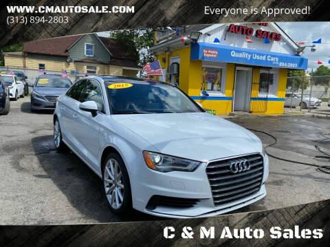 2015 Audi A3 for sale at C & M Auto Sales in Detroit MI