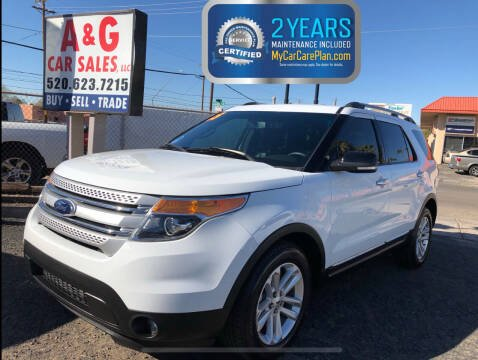2015 Ford Explorer for sale at A&G Car Sales  LLC in Tucson AZ