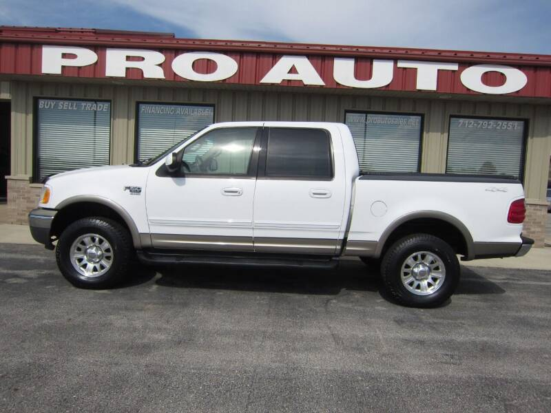 2001 Ford F-150 for sale at Pro Auto Sales in Carroll IA
