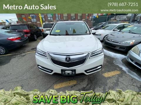 2014 Acura MDX for sale at Metro Auto Sales in Lawrence MA