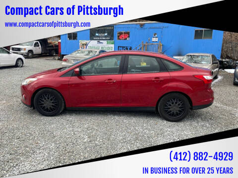 2012 Ford Focus for sale at Compact Cars of Pittsburgh in Pittsburgh PA
