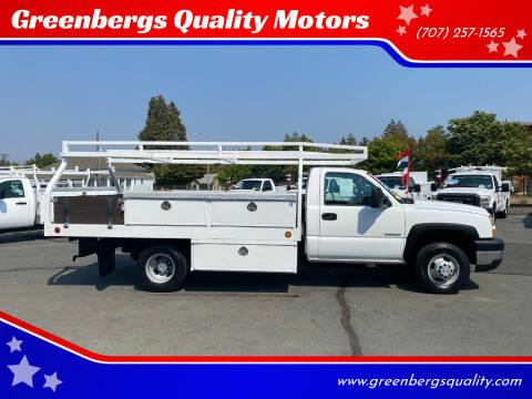 2007 Chevrolet Silverado 3500 CC Classic for sale at Greenbergs Quality Motors in Napa CA