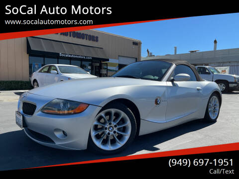2004 BMW Z4 for sale at SoCal Auto Motors in Costa Mesa CA